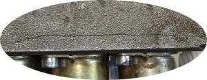 Увеличенное фото корпусной трещины RM-316