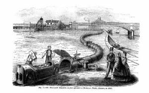 Испытания пневматической транспортной дороги в Баттерси