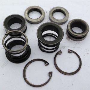 Торцовые уплотнения каналов высого давления двухпоточного регулируемого насоса 223.25 с прижимными пружинами и стопорными кольцами.