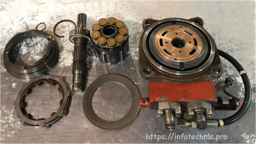 hydraulic motor HITACHI HMS072